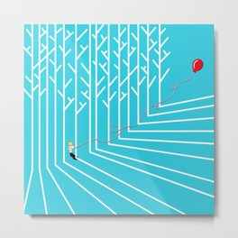 Astro Balloon | My Balloon Friend | Astronaut in Forest | Cosmonaut | pulps of wood Metal Print
