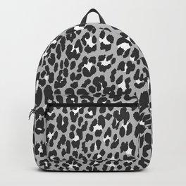 Elegant trendy black white cheetah pattern Backpack