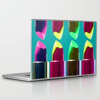 lipstick Laptop & iPad Skins featuring Lipstick  by aldarwish