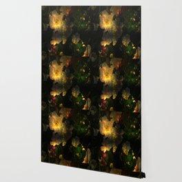Frightening Glow in the Flowers Wallpaper