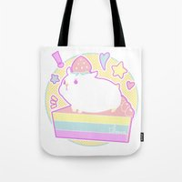hamster Tote Bags featuring Sweet Hamster by AquaZircon (LumiiLoup)