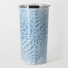 snow crystal Travel Mug