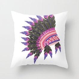 Indian Headdress Native American Art  Product Throw Pillow