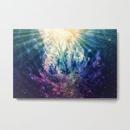 Light At The End of the Tunnel : Deep Pastels Metal Print