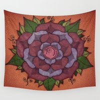 flower of life Wall Tapestries featuring Flower of Life by Laura Jean