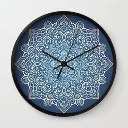 Mandala dark blue Wall Clock