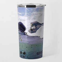 Astronauts Arm in Arm Travel Mug