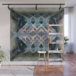 Abstract Multi-Colored Fractal (Night) Wall Mural