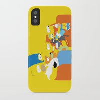 simpsons iPhone & iPod Cases featuring The Simpsons - Family by TracingHorses