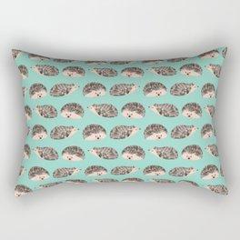 Hedgehog Turquoise Rectangular Pillow