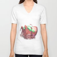 mother V-neck T-shirts featuring Mother by Seez