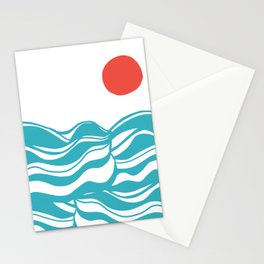Swell, ocean waves Stationery Cards