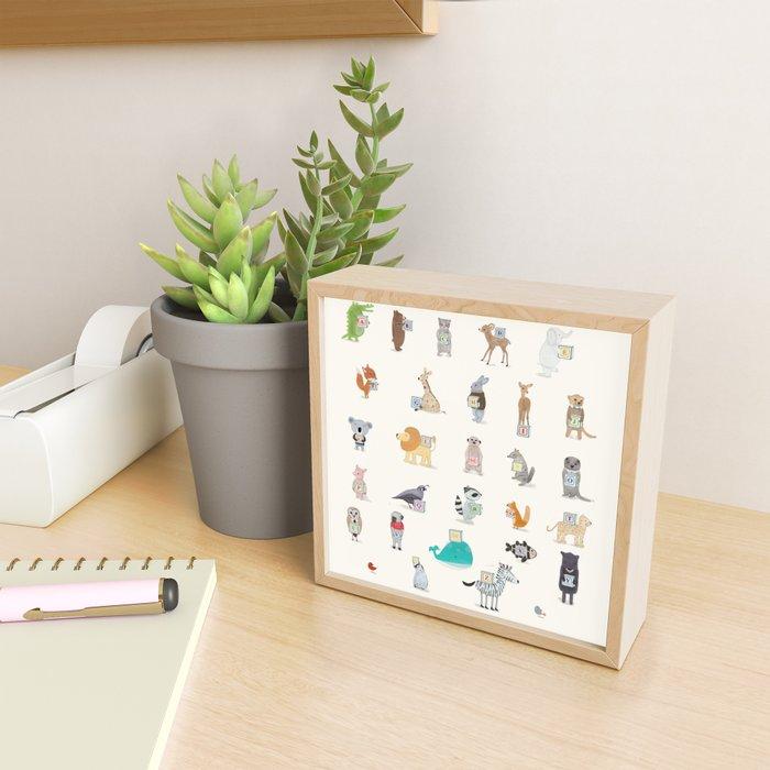 little alphabet Framed Mini Art Print