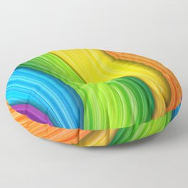 Colorful Rainbow Floor Pillow