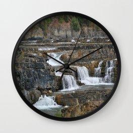 Kootenai Falls Wall Clock