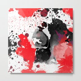 Red and Black Metal Print
