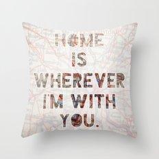 HOME (Ohio) Throw Pillow