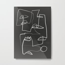 Abstract line art 12/2 Metal Print