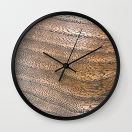Warm Waved Wood Wall Clock