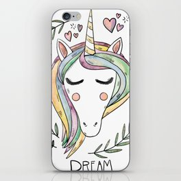 Cute Unicorn iPhone Skin
