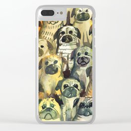 pug's squad Clear iPhone Case