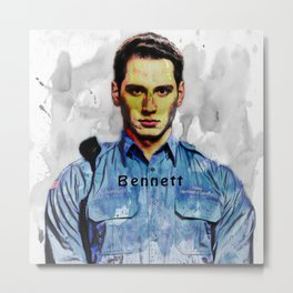 BENNETT Metal Print