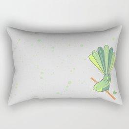 New Zealand Native Birds - Fantail Rectangular Pillow