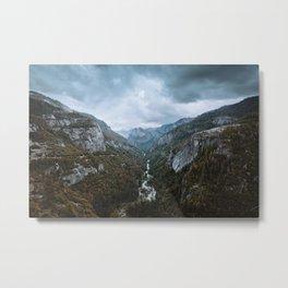 Yosemite Storm Clouds Metal Print