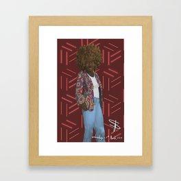 Afro Colorful Jacket African Print Background Framed Art Print