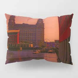 The Liver Building from the Princes Dock Pillow Sham