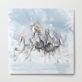 Awesome running horses Metal Print