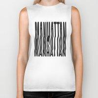manhattan Biker Tanks featuring Manhattan by Hoods