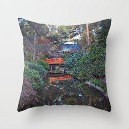 Japanese Gardens, Descanso Gardens Throw Pillow