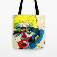kandinsky Tote Bags featuring 041112 by Alvaro Tapia Hidalgo