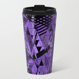 Abstract ethnic pattern in black, purple colors. Travel Mug