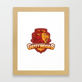 Hogwarts Quidditch Teams - Gryffindor Framed Art Print