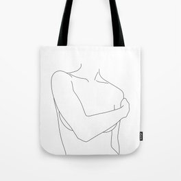 Nude figure line drawing - Judy Tote Bag