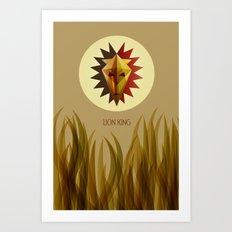 The Lion King Minimal Film Poster Art Print
