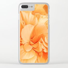 Hibiscus Rosa Double Petaled Yellow Clear iPhone Case