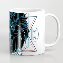The Wild Lion sacred geometry Coffee Mug