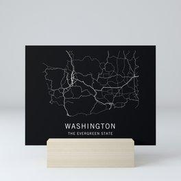 Washington State Road Map Mini Art Print