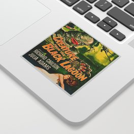 Creature from the Black Lagoon, vintage horror movie poster Sticker