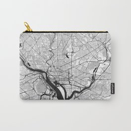 Washington Map Gray Carry-All Pouch