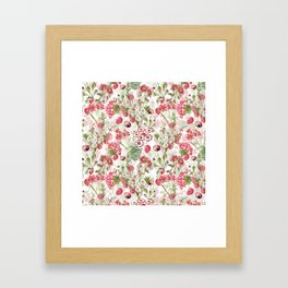 Vintage & Shabby Chic - Pink and White Summer Flowers Garden Framed Art Print