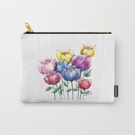 Dancing Posies Carry-All Pouch