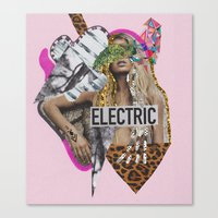 sia Canvas Prints featuring ELECTRIC FANTA-SIA  by Vasare Nar
