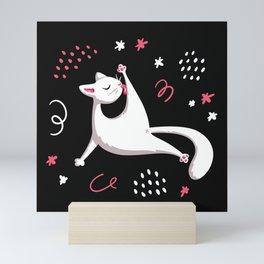 White Cat Mini Art Print