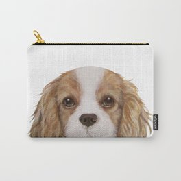 Cavalier King Charles Spaniel Dog illustration original painting print Carry-All Pouch