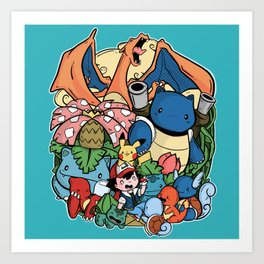 Pokèfriend Art Print