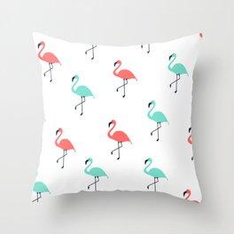 Pink & Mint Floyds Throw Pillow